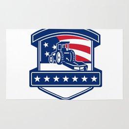 Brush Hogging Services USA Flag Badge Rug