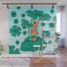 Lucky Bunny Wall Mural