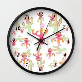 Cactus Family Day Wall Clock