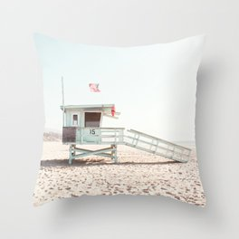 Somewhere in Cali Throw Pillow