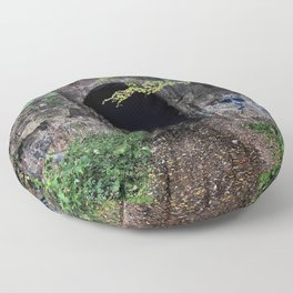 The Screaming Tunnel Floor Pillow