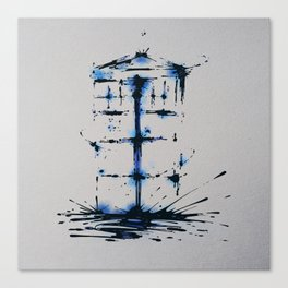 Splaaash Series - Blue Box Ink Canvas Print