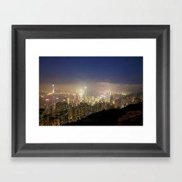 Hong Kong Night View 2014 02 Framed Art Print