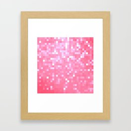 Bubblegum Pink Pixel Sparkle Framed Art Print