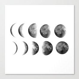 Phases (white) Canvas Print