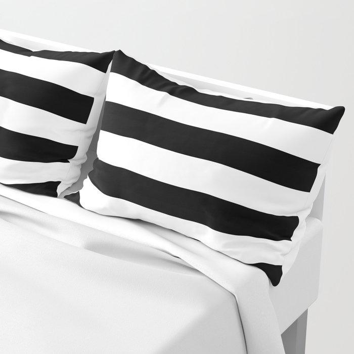 Stripe Black & White Horizontal Pillow Sham
