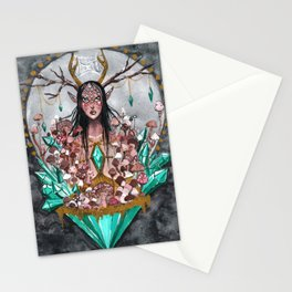 Crystal Fae Witch Stationery Cards