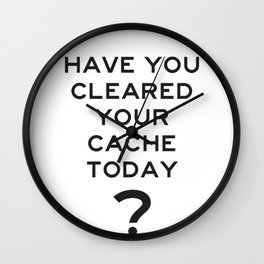 Cleared Cache Today Wall Clock