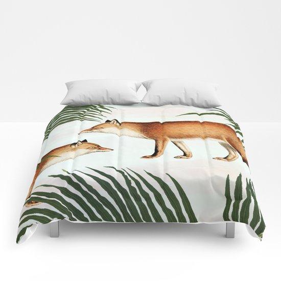 Red Fox Pair #society6 #buyart #decor Comforters