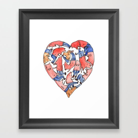 Pray with love Framed Art Print
