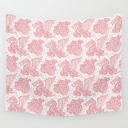Pegasus Pattern Dusty Rose Wall Tapestry