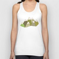 mountains Tank Tops featuring Mountains by evannave