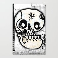calavera Canvas Prints featuring Calavera by Happy Tao