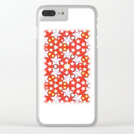 pattern with stars Clear iPhone Case