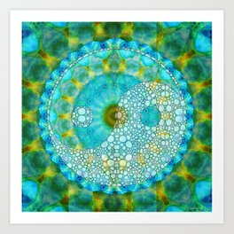 Calming Yin And Yang Art Design - Sharon Cummings Art Print