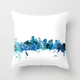 Boston Massachusetts Skyline Throw Pillow