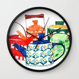 Scandinavian Tea pots Wall Clock