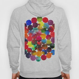 Colored Circles in watercolor Hoody