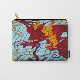 Dragon Stained Glass Carry-All Pouch