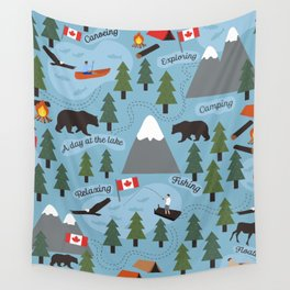 Day at the Lake - Blue Wall Tapestry