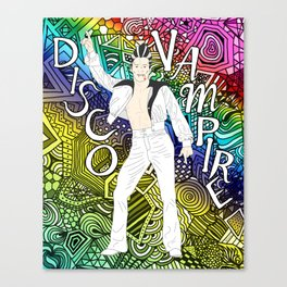 DISCO VAMPIRE HALLOWEEN OUTFIT Canvas Print