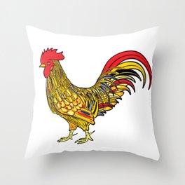 Festive cockerel Throw Pillow
