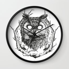Forest Gods | Owl Wall Clock