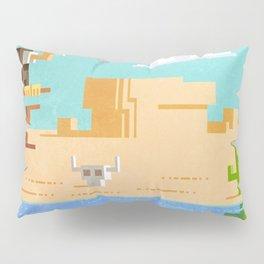 Pixel desert Pillow Sham