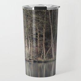 Winter at Cannop Ponds Travel Mug