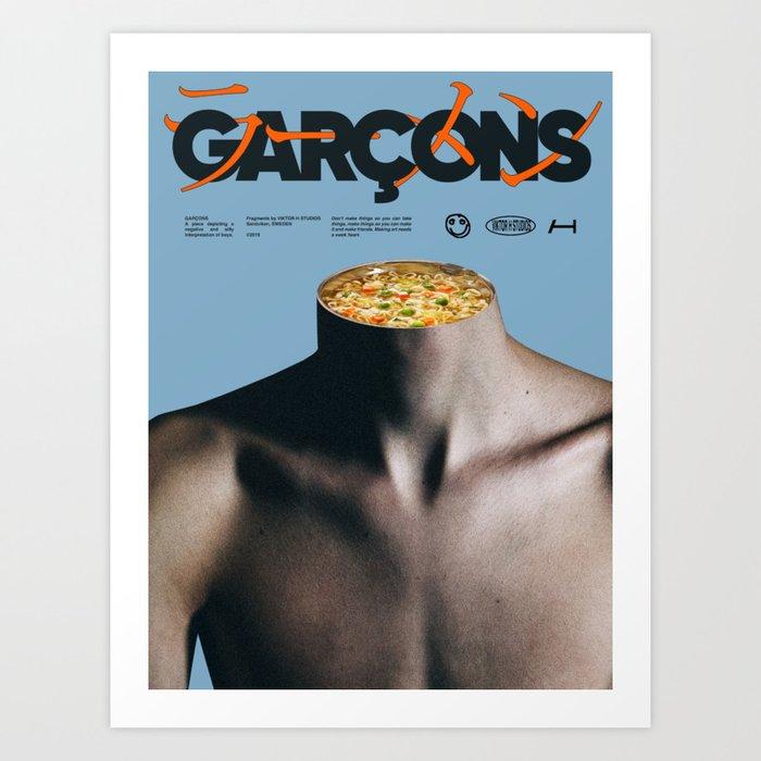 Garçons Art Print
