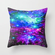 Fox Fur Nebula Galaxy Throw Pillow