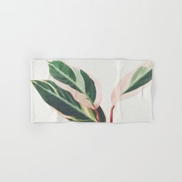Pink Leaves III Hand & Bath Towel