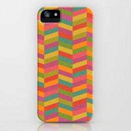 Chevron Gelati (textured geometric pattern) iPhone Case