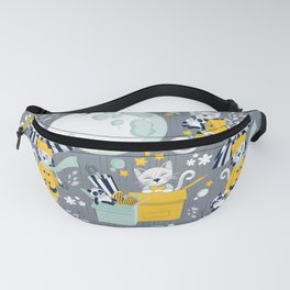 The cat who loves rainy nights Fanny Pack