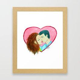 Heartfelt Kiss Framed Art Print