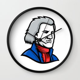 Thomas Jefferson Mascot Wall Clock