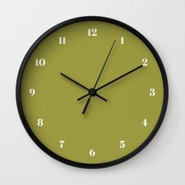Golden Lime // Pantone 16-0543 TPG Wall Clock
