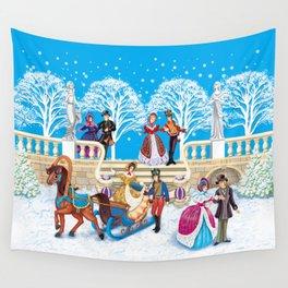 Winter walk Wall Tapestry