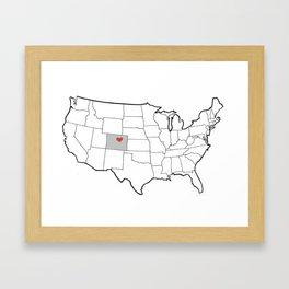 Dreaming In Denver Framed Art Print