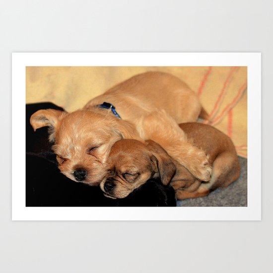 'Puppy Love' Art Print