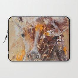 "Giraffe - Animal - ""Presence"" by LiliFlore Laptop Sleeve"