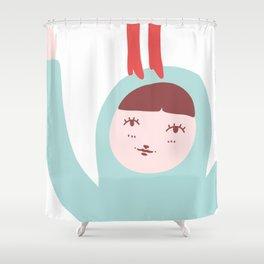 FEET ON MY HEAD Shower Curtain