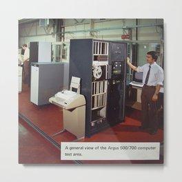 Ferranti Argus 500 Computer System Metal Print