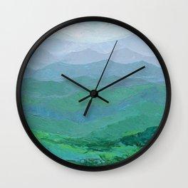 Blue Ridge Spring Wall Clock