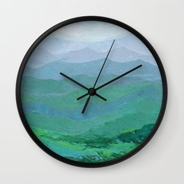 Blue Ridge Spring Wall Clock