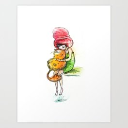 Warm Hugs Art Print