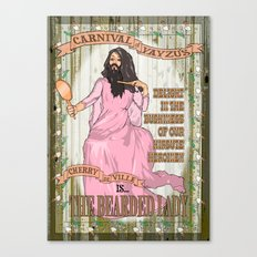 Bearded lady Canvas Print