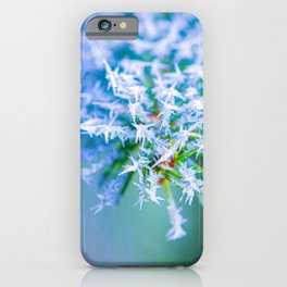 Bitter Cold, White Ice Crystals iPhone Case