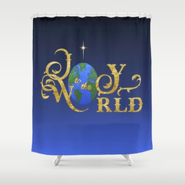 Joy to the World Golden Shower Curtain