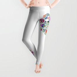 Folk Pattern - Flower Leggings